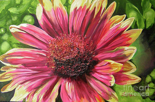 Lee Art Print featuring the painting A Circular Splendor Of Summer by Lee Nixon