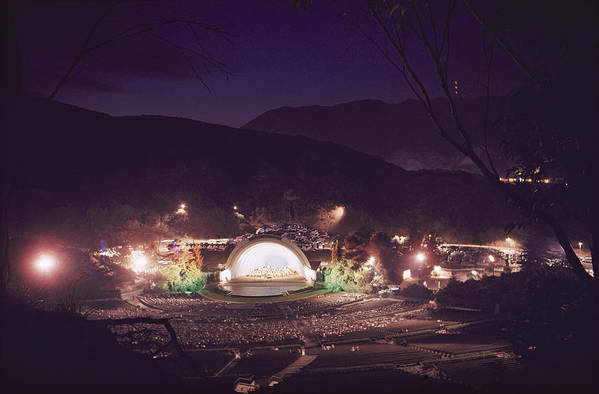 hollywood Bowl Print featuring the photograph A Night Performance At The Hollywood by B. Anthony Stewart