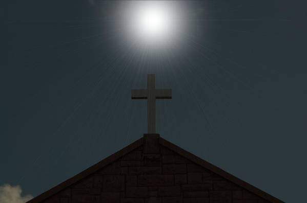Religious Art Print featuring the photograph A Sign From God by Robert Hunt