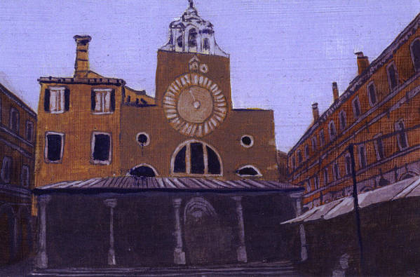 Landscape Art Print featuring the painting After Campo San Giacometto by Hyper - Canaletto