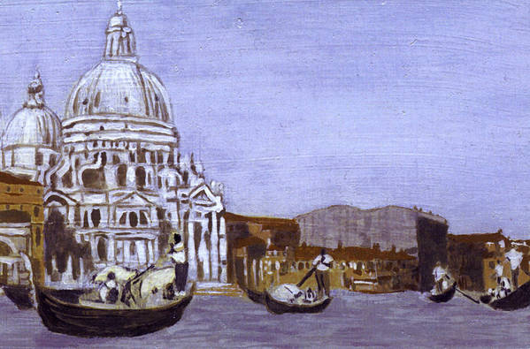 Landscape Art Print featuring the painting After The Grand Canal And The Church Of The Salute by Hyper - Canaletto