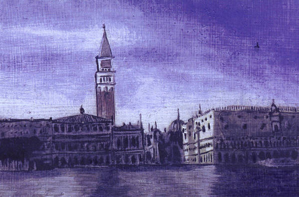 Landscape Art Print featuring the painting After The Pier At San Marco by Hyper - Canaletto
