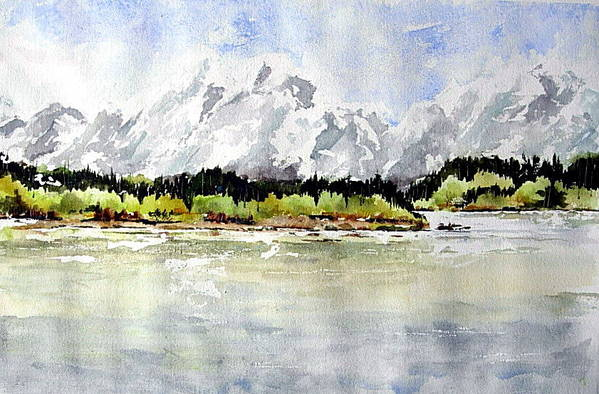 Art Print featuring the painting Alaska Solitude by Wilfred McOstrich