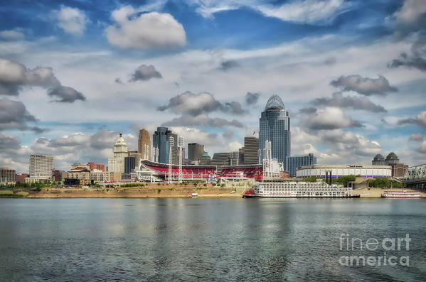 Cincinnati Art Print featuring the photograph All American City 2 by Mel Steinhauer