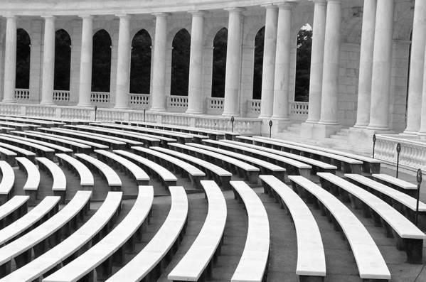 Architecture Art Print featuring the photograph Amphitheatre Washington by Vijay Sharon Govender