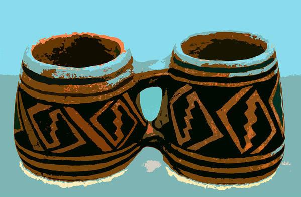 Anasazi Art Print featuring the painting Anasazi Double Mug by David Lee Thompson