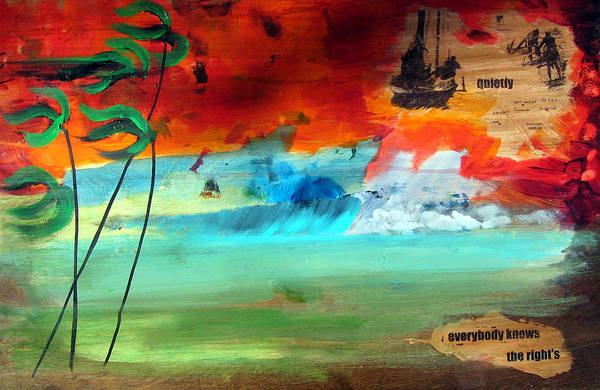 Landscape Art Print featuring the painting Andaman Islands by Nathan Paul Gibbs