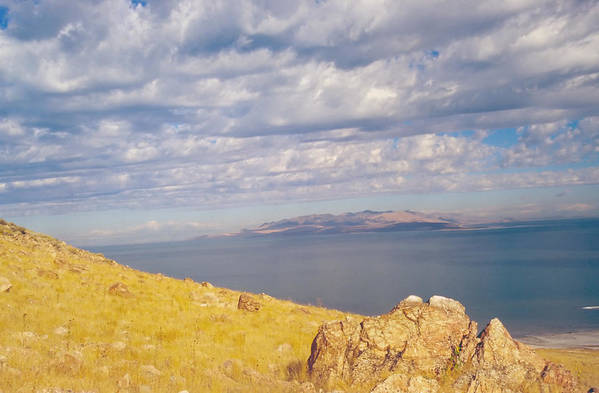 Great Salt Lake Art Print featuring the photograph Antelope Island 3 by Steve Ohlsen