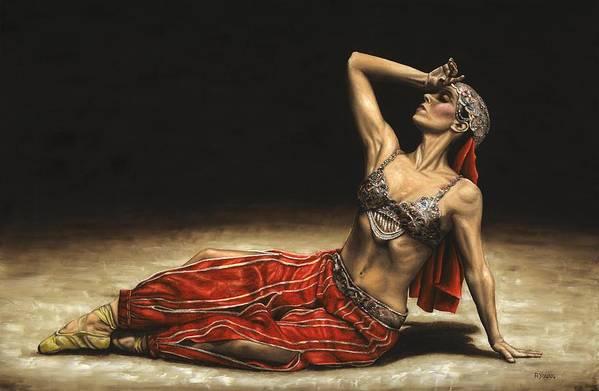 Arabian Art Print featuring the painting Arabian Coffee Awakes by Richard Young