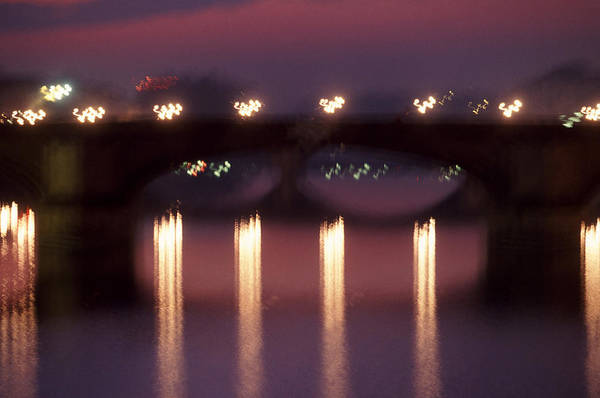 Bridge Art Print featuring the photograph Arno River Reflections by Brad Rickerby