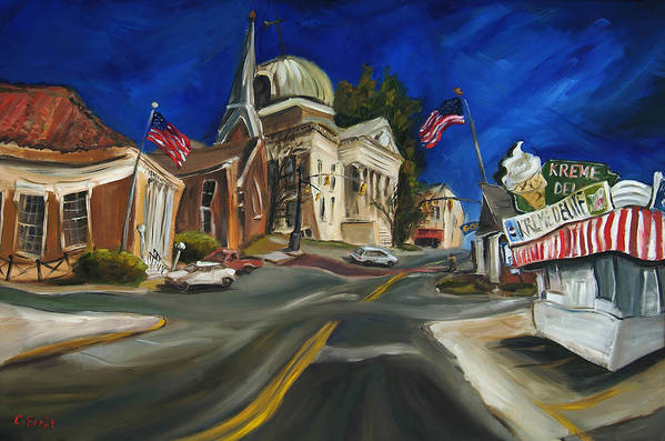 Athens Al Art Print featuring the painting Athens Al by Carole Foret