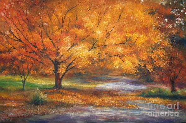Fall Art Print featuring the painting Autumn by Ann Cockerill