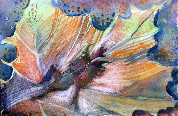 Fairy Art Print featuring the painting Autumn Fairy by Mindy Newman