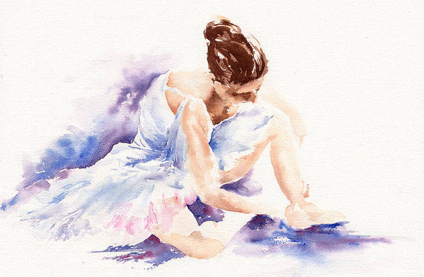 Ballerina Art Print featuring the painting Ballerina by Stephie Butler