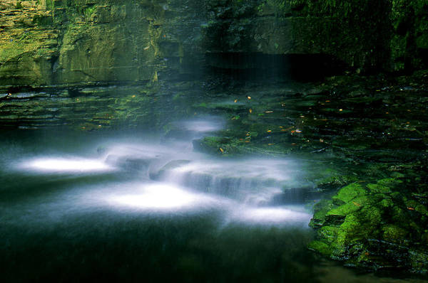 Waterfall Art Print featuring the photograph Base Of Waterfall by Roger Soule