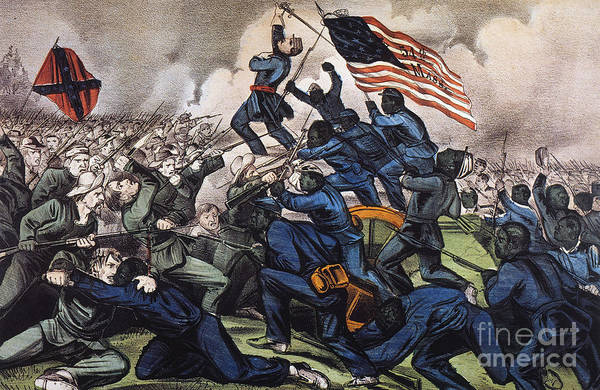1863 Art Print featuring the photograph Battle Of Fort Wagner, 1863 by Granger