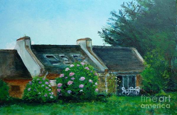 Bretagne Art Print featuring the painting Bel-ile-en-mer by Lizzy Forrester