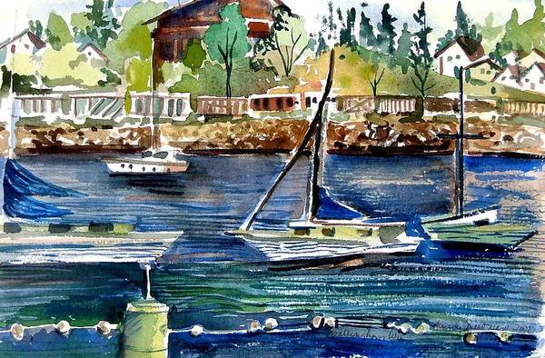 Bellingham Art Print featuring the painting Bellingham Washington The Beauty by Mindy Newman