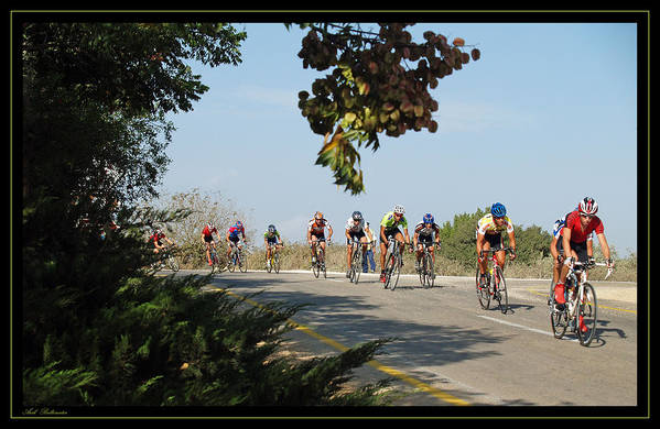 Bicycle Art Print featuring the photograph Bicycle Race by Arik Baltinester