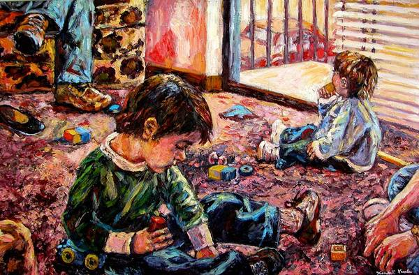Figure Art Print featuring the painting Birthday Party Or A Childs View by Kendall Kessler