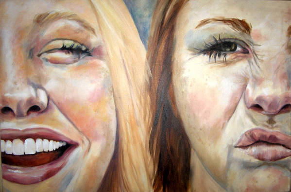 Face Art Print featuring the painting Blondes Have More Fun by Alyson Harris
