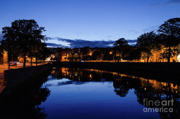 Architecture Art Print featuring the photograph blue hour in Cork by Diego Muzzini