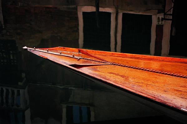 Water Seascape Wood Boats Photographs Canvas Fine Art Wall Art Office Art Italy Venice Art Print featuring the photograph Boat Venice Italy by Xavier Cardell