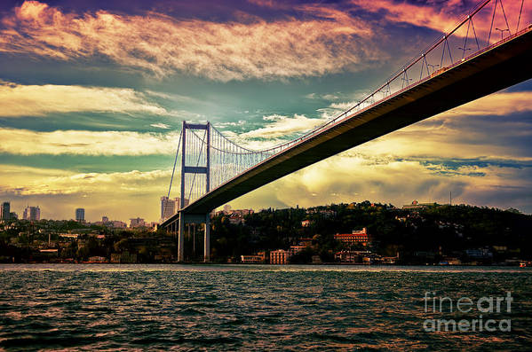 Marmara Art Print featuring the photograph Bosphorous Bridge by Nilay Tailor