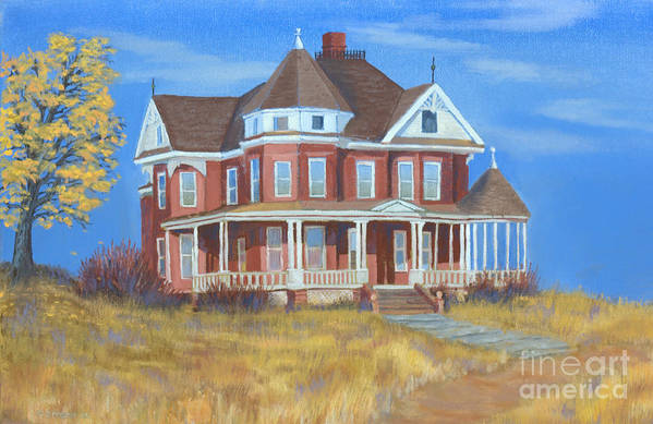 Boulder Art Print featuring the painting Boulder Victorian by Jerry McElroy