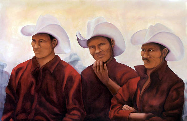 Oil Art Print featuring the painting Boys In The Band by Irene Corey