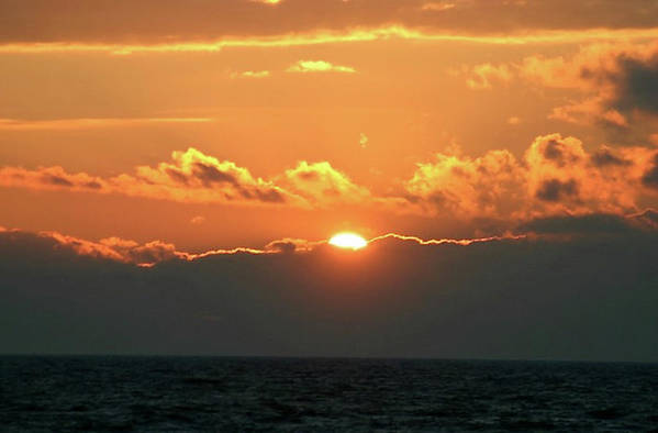 Sunsets Art Print featuring the photograph Bright Sunset Over Lake Michigan by Vincent Duis