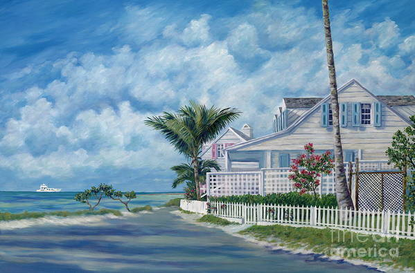 Harbor Island Art Print featuring the painting Briland Breeze by Danielle Perry