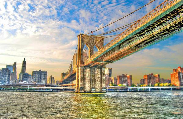 Brooklyn Bridge Art Print featuring the photograph Brooklyn Bridge by Randy Aveille