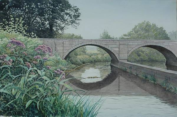 Landscape Art Print featuring the painting Camillus Canal by Stephen Bluto