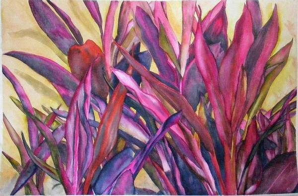 Floral Art Print featuring the painting Cancun Fires by Diane Ziemski