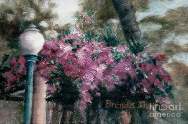 Flowers Art Print featuring the painting Cascading Flowers by Brenda Thour