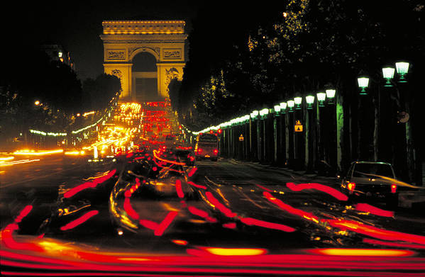 France Art Print featuring the photograph Champs Elysee In Paris by Carl Purcell