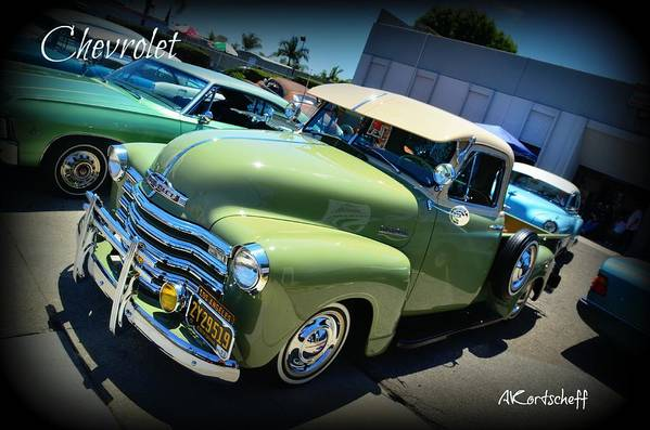 Art Print featuring the photograph Chevy Truck by Anatole Kortscheff