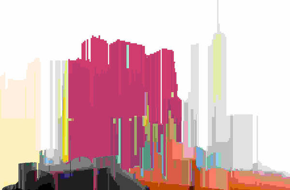 Abstract Art Print featuring the digital art City Color 2 by Lyle Crump