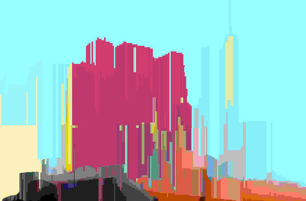 Abstract Art Print featuring the digital art City Color 3 by Lyle Crump