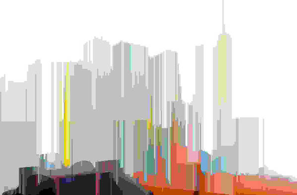 Abstract Art Print featuring the digital art City Color by Lyle Crump