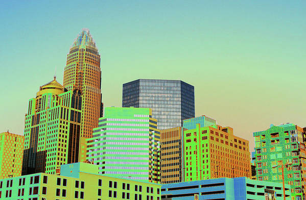 Charlotte Art Print featuring the photograph City Of Colors by Karol Livote