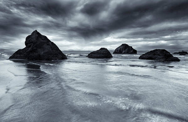 Beach Art Print featuring the photograph Clearing Storm by Mike Dawson