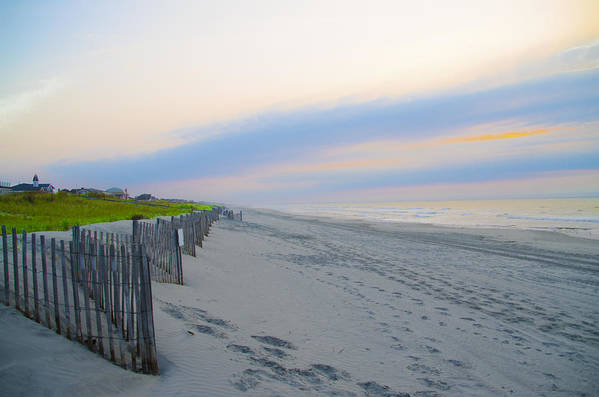 Colorful Art Print featuring the photograph Colorful Skies On The Beach In Stone Harbor by Bill Cannon