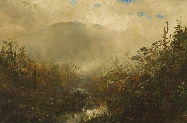Wild Art Print featuring the painting Coming Storm In The Adirondacks by William Sonntag