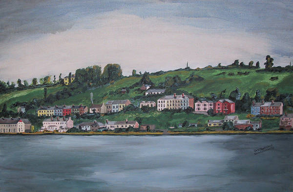 Landscape Art Print featuring the painting Cork City Ireland by Kevin Callahan