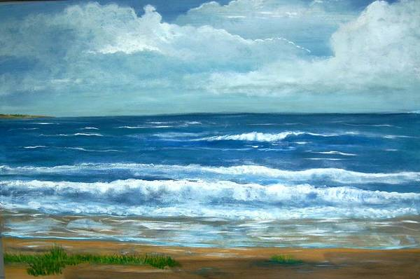 Beaches Art Print featuring the painting Cross Beach by Richard Hubal