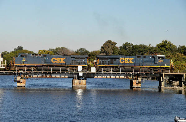 Csx Bridges Art Print featuring the photograph Csx On Mills Bayou by John Black