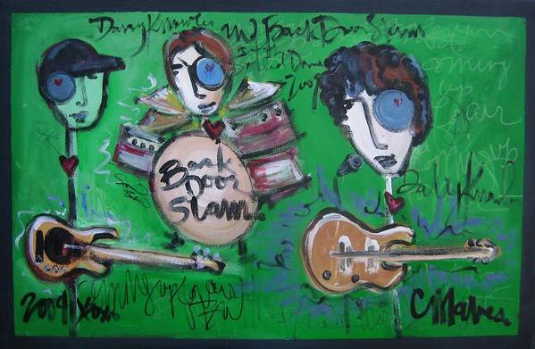 Davy Knowles Art Print featuring the painting Davy Knowles And Back Door Slam by Laurie Maves ART