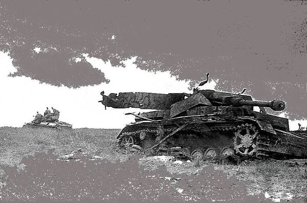 Disabled German Tiger Tank Battle Of Kursk Soviet Union 1943 Art Print